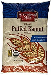 Arrowhead Mills Organic Puffed Kamut Cereal 6 oz (Pack of 3)