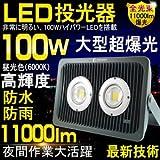 GOODGOODS LED 投光器 100W 1000W相当 看板灯 作業灯 広角 防水 屋外照明 家庭用コンセントでOK 【一年保証】 LD302