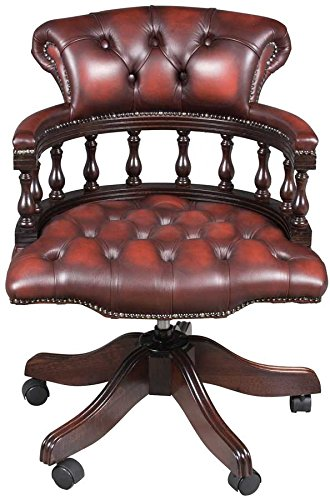 Antique Style Leather Office Chair 0