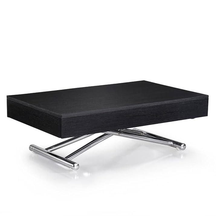 Tavolino sollevabile cubo Rovere nero estensibile 10coperti