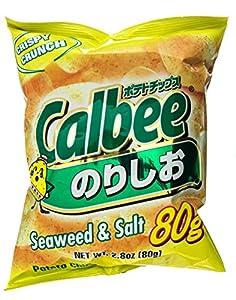 Calbee Potato Chips Seaweed and salt