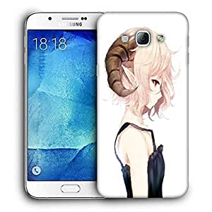 Snoogg Elf Girl With Ram Horns Printed Protective Phone Back Case Cover For Samsung Galaxy Note 5