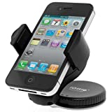 51jhEBnNRHL. SL160  iOttie Windshield Dashboard Car Mount Holder for iPhone 4S 4 3GS Samsung Galaxy S3 S2 Epic Touch 4G HTC One X EVO 4G Rhyme DROID RAZR BIONIC INCREDIBLE 2 CHARGE Google BlackBerry Torch LG Revolution GPS Compact Size 360 degree Rotatable