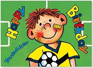 Sticker Geschenk Bild Karte Fussball Fussballer: Toys & Games