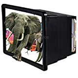 SK F2 Mobile Phone 3D Screen Magnifier 3D Video Screen Amplifier Eyes Protection Enlarged Expander (Black)