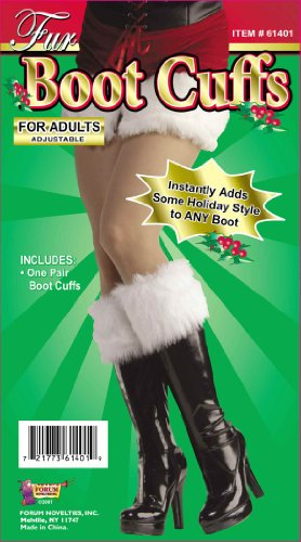Forum Novelties Women's Sexy Santa Fur Boot Cuffs