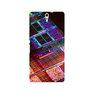 TAZindia Designer Printed Hard Back Mobile Case Cover For Sony Xperia C5