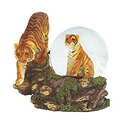 4.25 Inch Two Orange Bengal Tigers Snow Globe by GSC