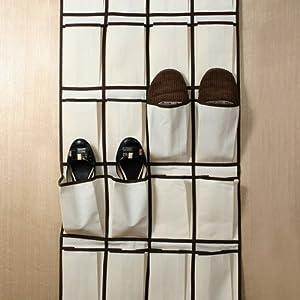 rangement de chaussures suspendre en tissu pliable avec 24 poches cuisine maison. Black Bedroom Furniture Sets. Home Design Ideas