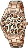 XOXO Women's XO5638 Rose Gold-Tone Leopard Dial Dress Watch