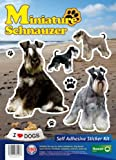 Dogs Self Adhesive Sticker Kit - Miniture Schnauzer
