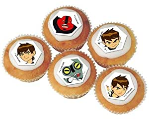 30 Ben 10 Cupcake Birthday Cake Sugarette Decorations