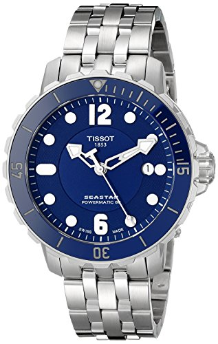 Tissot Men's T0664071104702 Seastar Analog Display Swiss Automatic Silver Watch