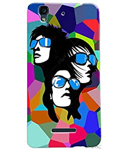 Fuson Multicolor Pattern Girls Back Case Cover for MICROMAX YU YUREKA - D3757