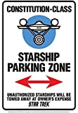 Metall Schild Star Trek- Parking (NM)