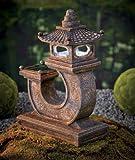 Ceramic Solar Pagoda Light Outdoor Garden Yard Statuary 4-1/2w X 8-1/2d X 12h