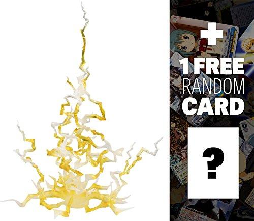 Yellow Thunder Effect: Tamashii Nation Action Figure Effect Set + 1 FREE Anime Themed Trading Card Bundle