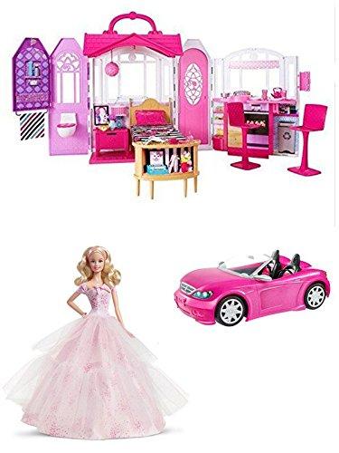[3 in 1 Barbie Glam Getaway House, Barbie Glam Convertible, Barbie Birthday Wishes 2016 Barbie Doll,] (Malibu Barbie Costume)