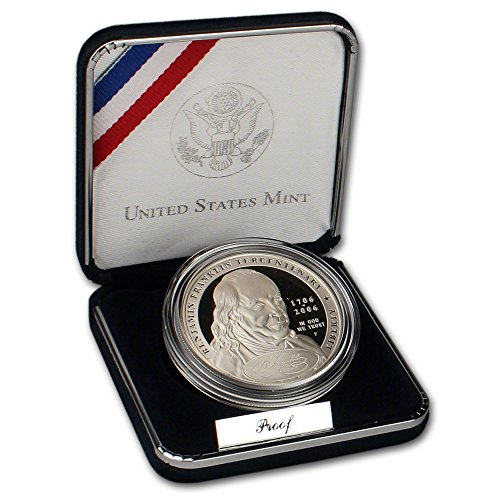 2006 P US Benjamin Franklin Founding Father Commemorative Proof Silver $1 US Mint OGP