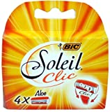 BiC Soleil Clic Lady Triple Blade Refill Cartridges (Pack of 4) for Use with BiC