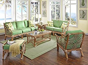 bali rattan wicker 6 piece living room set