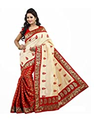 Livaaz Cotton Saree With Blouse Piece (Sf100810 _Red)