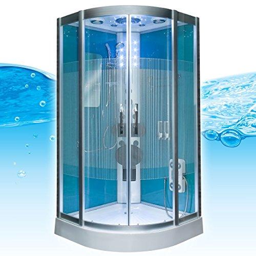 Dampfdusche Dusche Duschtempel Fertigdusche 80x80 90x90 100x100 AcquaVapore DTP8046 HBL-SS-DF-TH, EasyClean Versiegelung der Scheiben:2K Scheiben Versiegelung +89.-EUR;Abmessungen:L / 80x80x215cm +0.-EUR