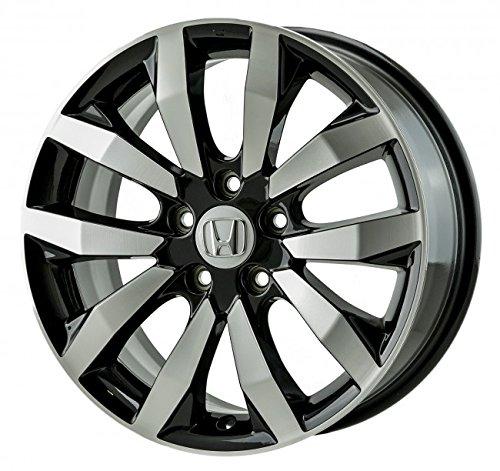 FOUR BRAND NEW 17 INCH 2009 2010 2011 2012 2013 2014 2015 2016 HONDA CIVIC DX VP LX EX EXL SI BLACK MACHINED OEM ALLOY WHEELS RIMS SET 64063 17X7 42700SNXA72 42700SNXC71 (Black Rims For Honda Civic compare prices)