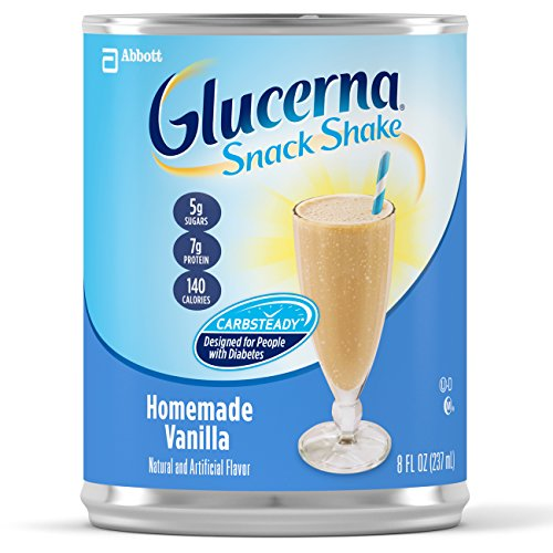 Glucerna Snack Shake, Homemade Vanilla, 8 Ounce, 16 count (Ready Made Meals For Weight Loss compare prices)