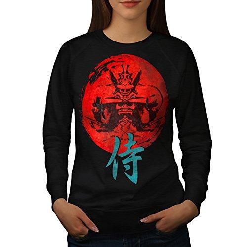 japonais-rouge-symbole-asiatique-femme-nouveau-noir-xl-sweat-shirt-wellcoda