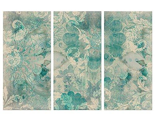 Cuadro de lienzo flowers in ice tr ptico i dimensione - Cuadros abstractos paso a paso ...