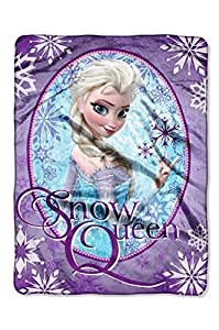 """Disney Frozen """"Snow Queen"""" Plush Micro Raschel Throw by The Northwest Company, 46 by 60-Inch"""