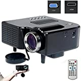 Biaba Collection Mini-Multimedia-LCD-Image-System-LED-Projector-with-SD-USB-AV-VGA-HDMI-Port Tripod Compatible... - B072LC6XWX