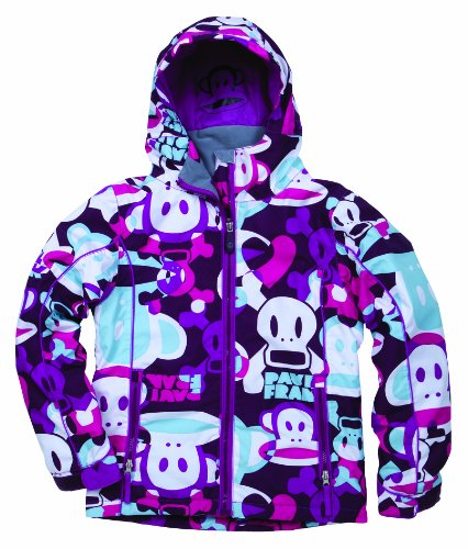 Paul Frank Girls' Illusion Insulated Jacket (Light Plum, Medium)