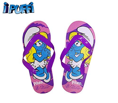 Ciabatte infradito bimba cartoon Puffetta sandali in gomma rosa 2301000547 .MWS (26, Rosa)