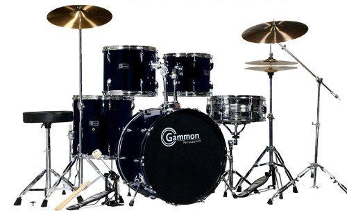 New Full Adult Size Drum Set with Extra Boom Cymbal & Stand