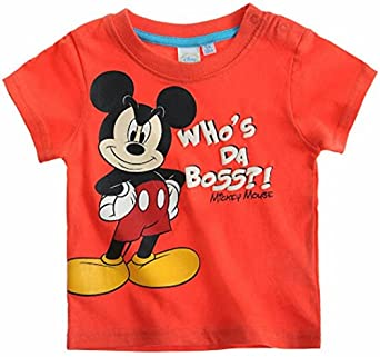 Disney Mickey Mouse Kollektion 2014 T-Shirt 62 68 74 80 86 92 Shirt Jungen Neu Top Baby Maus Rot (74 - 80)