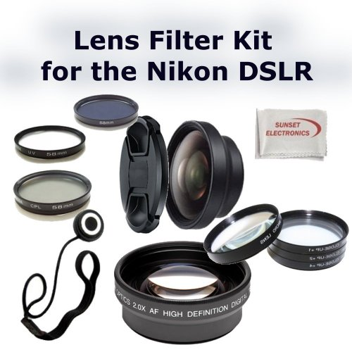 Digital Accessory Kit For Nikon D3100, D5100 Digital SLR Cameras