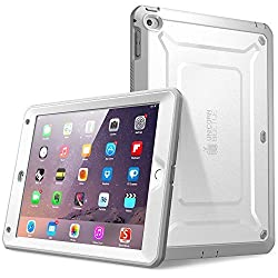 Supcase Unicorn Beetle PRO Case with Built-in Screen Protector for iPad Air 2 - White/Gray
