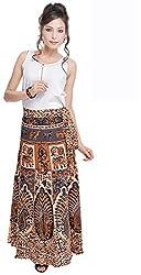 Soundarya Women's Cotton Wrap Skirt (6052, Long)