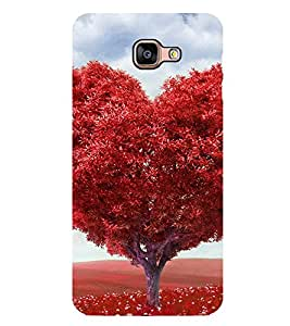 Red Heart Tree 2D Hard Polycarbonate Designer Back Case Cover for Samsung Galaxy A8 :: Samsung Galaxy A9 (2016) Duos with dual-SIM card slot