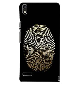 PrintDhaba FINGER PRINT D-6687 Back Case Cover for HUAWEI ASCEND P6 (Multi-Coloured)