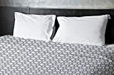 Ebydesign Geometric Duvet Cover, King, 5Steel Gray