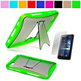 51jhr3jMK3L. SL160  Premium TPU Hard Crystal Case Cover with Kickstand for Samsung Galaxy Tab 7 inch LCD Display Screen Wifi 3G Samsung Galaxy Tablet P1000 + Anti Glare Clear Screen Protector, Green