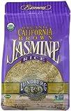 Lundberg Organic California Jasmine Rice, Brown, 16 Ounce (Pack of 6)