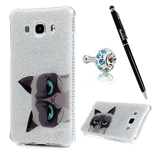 Badalink Galaxy J7 Case (2016) Soft TPU Shockproof Easy Grip Bumper Frame + PC Back Shell Color-fading Resistant Colorful Painting Slim Protective Cover for Samsung Galaxy J7 - Pattern 10