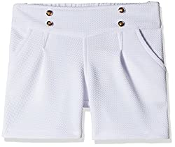 Little Kangaroos Girls' Shorts (Pack of 2) (11564_White_10 year)