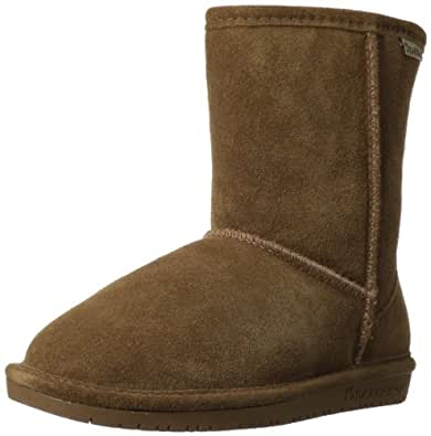 Bearpaw Girls Emma Youth 608 Suede Boots,Hickory/Champagne,5