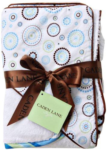 Caden Lane Classic Collection Circle Dot Hooded Towel Set, Blue, Infant