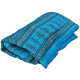 Ayushi Craft & Fashions Single Designer Blue Jaipuri Cotton Quilt